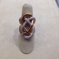DM Kordansky 14KT Rose Gold Diamond Pretzel Ring