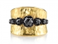 Arman 22KT Rose Cut Black Diamond Ring