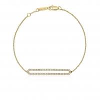 Beny Sofer Curved Diamond Bar Bracelet