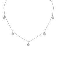 Beny Sofer Dangling Diamond Pave Disc Necklace