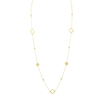 Beny Sofer Diamond by the Yard Clover Necklace