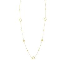 Beny Sofer Diamond by the Yard Clover Necklace