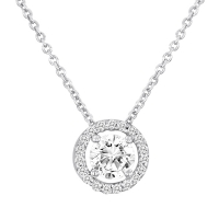Beny Sofer Solitare Diamond Pendant with Halo