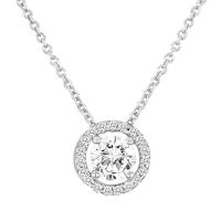 Beny Sofer Solitare Diamond Pendant with Halo