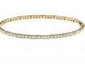 Beny Sofer Diamond Bezel and Bar Bangle