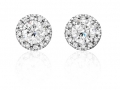 Beny Sofer Diamond Earring Studs with Halo