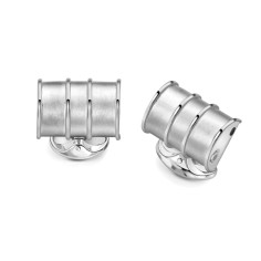 Deakin & Francis Sterling Silver Oil Drum Cufflinks