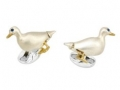 Deakin & Francis 18KT White and Yellow Gold Duck Cufflinks