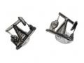 Deakin & Francis Sterling Silver Enamel Nodding Donkey Cufflinks