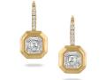 Doves 18KT Yellow Gold Mosaic Set Diamond Earrings