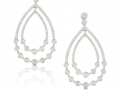 Doves 18KT White Gold Diamond Teardrop Earrings
