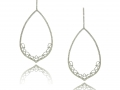 Doves 18KT Diamond Teardrop Lacey Earrings
