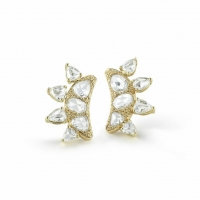 Fred Leighton Rose Cut Diamond Ear Climbers