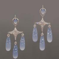 Fred Leighton Chalcedony Chandelier Earrings