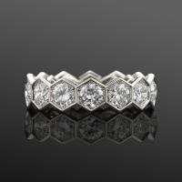 Fred Leighton Diamond Hexagonal Eternity Band