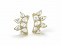 Fred Leighton Rose Cut Diamond Ear Climbers