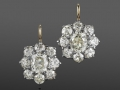 Fred Leighton Diamond Cluster Earrings