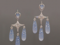 Fred Leighton Chalcedony Chandelier Earrings