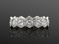 Fred Leighton Diamond Hexagonal Eternity Band