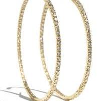Garavelli Diamond Hoop Earrings