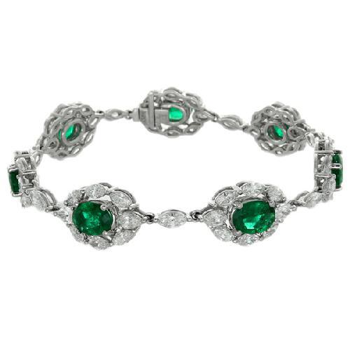 Gregg Ruth Emerald and Diamond Bracelet