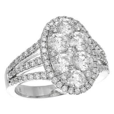 Gregg Ruth Diamond Cluster Ring