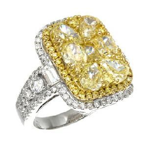 Gregg Ruth Yellow Diamond Cluster Ring