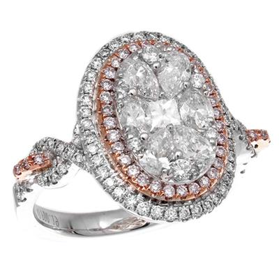 Gregg Ruth Pink Diamond Cluster Ring