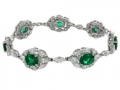 Gregg Ruth Emerald and Diamond Bracelet