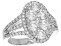 Gregg Ruth Diamond Cluster Ring