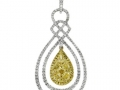 Gregg Ruth Pear Shaped Yellow Diamond Pendant