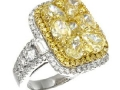 Gregg Ruth Yellow Diamond Cluster Ring