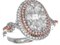 Gregg Ruth Pink Diamond Cluster Ring