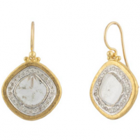 Gurhan 24KT Diamond Slice Earrings