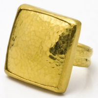 Gurhan 24KT Square Ring
