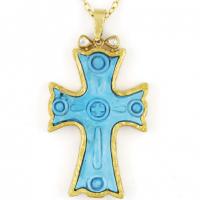 Gurhan 24KT Turquoise Cross Pendant