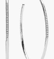 Ippolita Sterling Silver Hoops with Diamonds