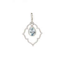 Jude Frances Blue Topaz Earrings Charms and Diamond Earring Charm Frames