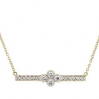 Jude Frances Provence Diamond Bar Necklace