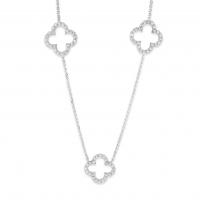 KC Designs Diamond Clover Station Necklace