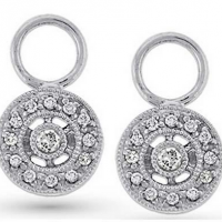 KC Designs Circle Diamond Earring Charms