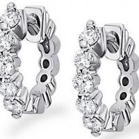 KC Designs Diamond Huggie Earrings