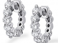 KC Designs Diamond Huggie Earrings