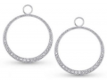 KC Designs Open Circle Diamond Earring Charm and Frames