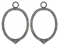 KC Designs Oval Diamond Earring Charms and Frames