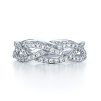 Kwiat Three Row Woven Diamond Ring