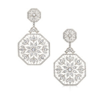 Kwiat Large Vintage Diamond Plume Earrings