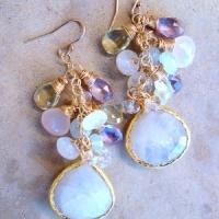 Laura J Finery Waterfall Earrings