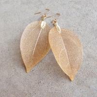 Laura J Finery Leaf Earrings