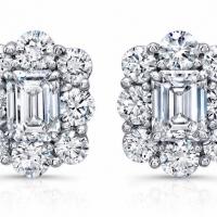 Norman Silverman Diamond Stud Earrings